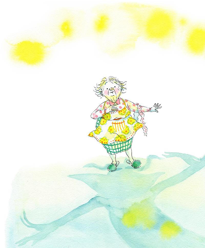 La Petite Vieille, illustration d'Irène Bonacina pour