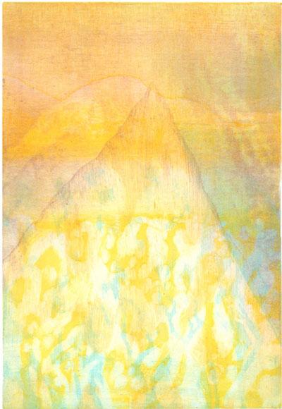 """""""Voyage imaginaire"""", série de monotypes d'Irène Bonacina lors de sa résidence d'artiste à l'Institut Français d'Oujda, Maroc, 2013"""