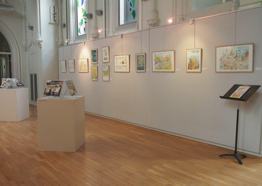 Exposition dessins illustrations carnets et monotypes d'Irène Bonacina à Olivet